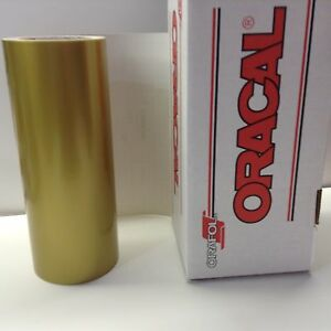 Oracal 651 1 Roll 12 X 10 Ft Gold 091 Vinyl For Craft Sign Cutter