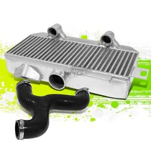 For 08 11 Impreza Wrx Sti Ej Top mount Bolt On Aluminum Turbo Intercooler y pipe