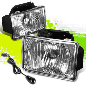 Chrome Clear Oe Fog Light Lamps Pair Switch For 04 12 Chevy Colorado Gmc Canyon