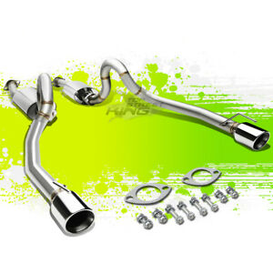For 96 04 Mustang V8 Dual 4 Rolled Tip Polished Stainless Steel Catback Exhaust