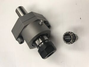 New Rotary Wobble Broach Tool Holder Center Adjustable Uses Er20 Collet