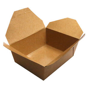 Medium Eco Friendly Bio Box Take Out Container 46 Ounces 200 Count Box