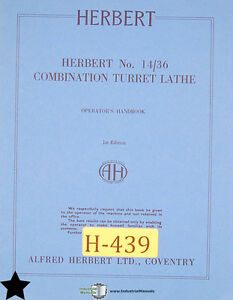 Herbert No 14 36 Combination Turret Lathe Operator s Manual