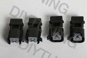 4 Fuel Injector Connector Adapter Obd0 Honda Ev1 To Injector Dynamics Id1000