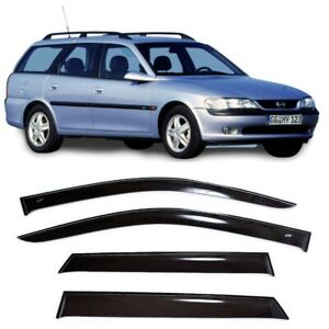 For Opel Vectra B Caravan 95 02 Side Window Visors Rain Guard Vent Deflectors