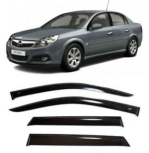 For Opel Vectra C Sd 2002 2008 Side Window Visors Sun Rain Guard Vent Deflectors
