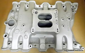 Offenhauser 5768 High Rise Olds Intake 360 Dual Plane Dual Flange