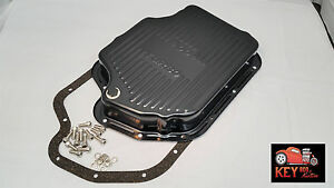 Turbo 400 Th400 Black Transmission Pan With Gasket Bolts Extra Deep Capacity