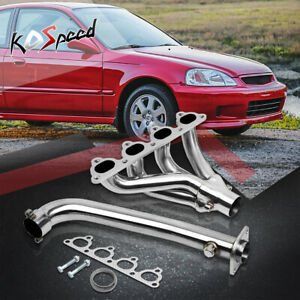 4 1 Racing Stainless Header Manifold Exhaust For Civic Crx Ee Eg Ej Ek D15a D16a
