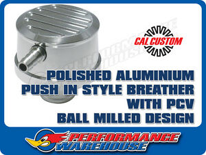 Cal Custom Polished Aluminium Push in Breather Cap With Pcv Ball Milled Design