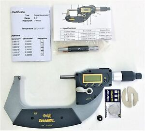 New Digital 3 4 Absolute Electronic Digital Micrometer 00005 Reading