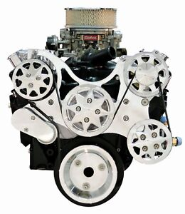 Billet Serpentine Kit Small Block Chevy Polished W ac Ps