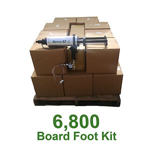 D I Y Spray Foam Insulation 5lb 6800 Board Ft Kit less Than 40 A Board Foot