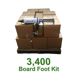 D I Y Spray Foam Insulation 5lb Open Cell Urethane Foam 3400 Board Foot Kit