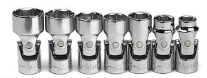 Craftsman Sae 3 8 Drive Swivel Flex 7pc Piece Sockets Set 6 Point 3 8 3 4