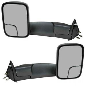 For 94 01 Dodge Ram 1500 94 02 Ram 2500 3500 Manual Towing Mirrors Side Tow Pair