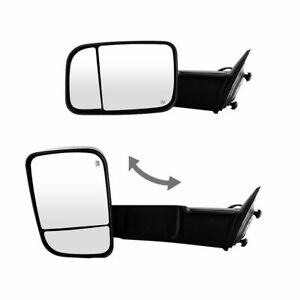 For 98 01 Dodge Ram 1500 98 02 Ram 2500 3500 Power Heated Towing Mirrors Pair