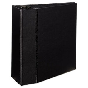 Avery Durable Binder With Two Booster Ezd Rings 11 X 8 1 2 5 Black