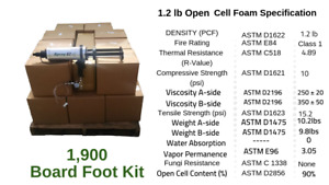 Diy Spray Foam Insulation Closed Cell 1 5 Lb 1900 Board Foot Kit