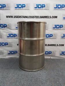 55 Gallon Stainless Steel Drum Closed Top Polished Sku 90
