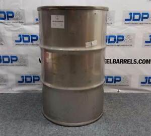 55 Gallon Stainless Steel Drum Closed Top Sku 94