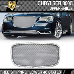 Fits 15 17 Chrysler 300 300c B Style Front Upper Grill Grille Chrome