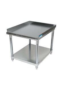 Bk Resources 19x 30 Stainless Steel Equip Stand With Undershelf