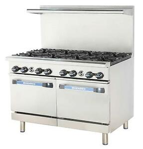 Radiance Tar 8 48 Restaurant Gas Range W 8 Burners And 2 Ovens