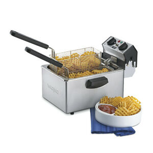 Waring Wdf75b 8 5lb Countertop Electric Fryer W Timer 208v
