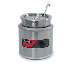 Nemco 6101a icl 11 Quart Round Chili Soup Warmer With Inset Cover