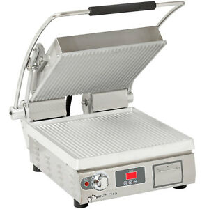 Star Pgt14t Pro max 14 Panini Grill Grooved Alum Plate Electronic Timer