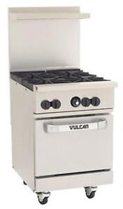 Vulcan 24s 4b Endurance 24 Range With 4 Burners And Standard Oven