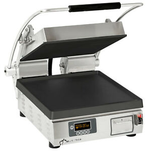 Star Pst14ie Pro max Panini Grill Smooth Iron Plates Single 10 3 8 X 23