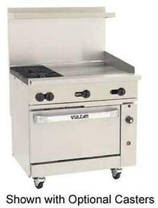 Vulcan 36c 2b24g Endurance Range 36 2 Burner 24 Griddle W Convection Oven