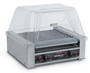 Nemco 8075 Hot Dog Roller Grill S s Capacity 75 Hot Dogs