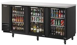 Turbo Air 91 Back Bar Bottle Cooler 3 Glass Doors Black Exterior Tbb 4sg