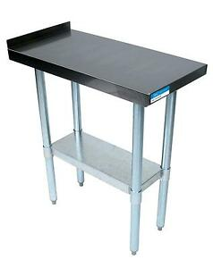 Bk Resources Commercial Kitchen Stainless Filler Prep Table 15 w X 30 d