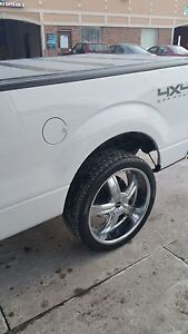 Like New 24 Inch Wheels And Tires For Ford F 150
