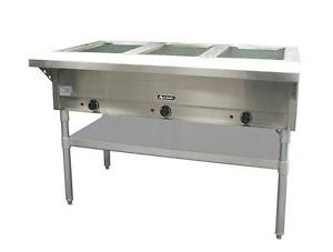 Adcraft St 120 3 Three Well 2250 Watt Steam Table With Cutting Board