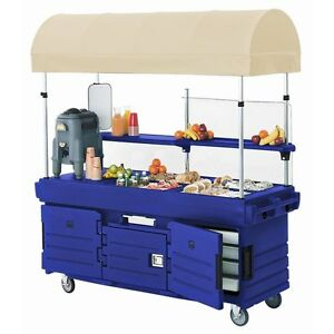 Cambro Kvc854c186 4 Pan Well Camkiosk Vending Merchandising Cart Navy Blue