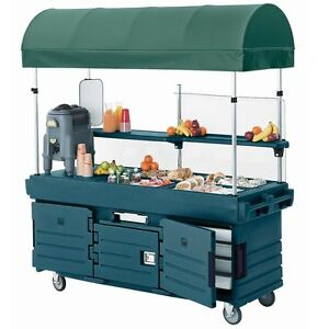 Cambro Kvc854c192 4 Pan Well Camkiosk Vending Merchandising Cart Green