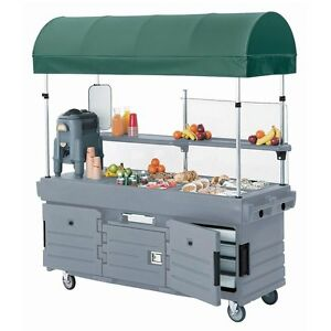 Cambro Kvc854c191 4 Pan Well Camkiosk Vending Merchandising Cart Gray