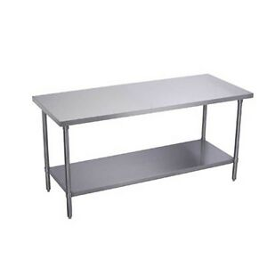 Elkay Foodservice 30 X 24 Work Table 18 300 Stainless With Galvanized Shelf