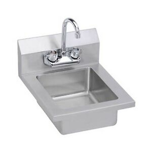 Elkay Foodservice Ehs 14x 14 Economy Hand Sink Wall Mount With Gooseneck Faucet