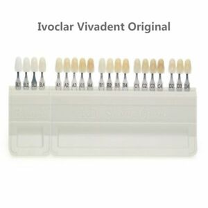 100 Ivoclar Vivadent Dental Porcelain Teeth Tooth 16 Color A d Shade Guide