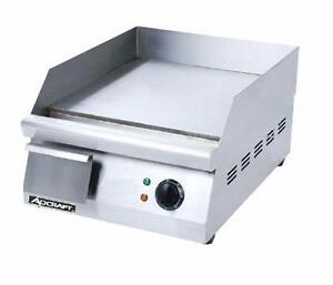 Adcraft Grid 16 16 Countertop Electric Thermostatic Griddle