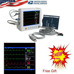 Portable Medical Patient Monitor 6parameter Icu Ccu Vital Sign Heart Machine Us