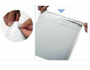 Bubble Mailers Airjacket White Made In Usa High Quality Zipper Open Peel Seal