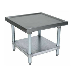 Bk Resources 30 x24 18g Stainless Steel Equipment Stand W S s Undrshelf
