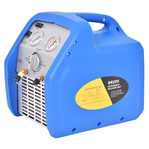 Hvac Refrigerant Recovery Machine 110v 60hz Compact Portable Unit Blue New